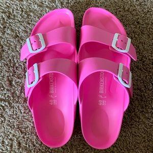 NWOT Hot Pink Birkenstock Arizona EVA Sandals